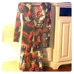 Cabi Butterfly/floral print dress!